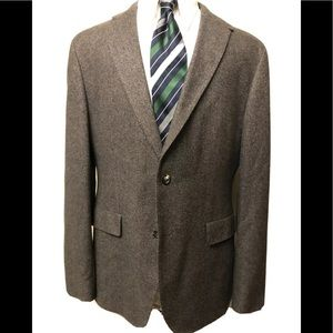 hugo boss blazer sport coat elbows patches 42R